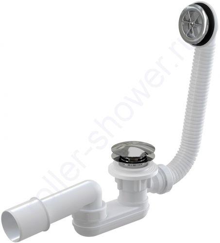 Сифон с переливом для высоких поддонов (под отверстие 70мм)