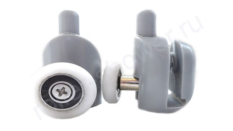 Ролик для душевой кабины VH001 нижний с кнопкой (комплект 4шт)