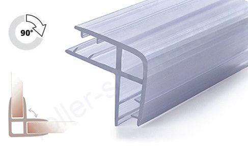 Уплотнитель для стыковки стекол под углом 90°, для стекла 6-6мм. Длина 2 метра.